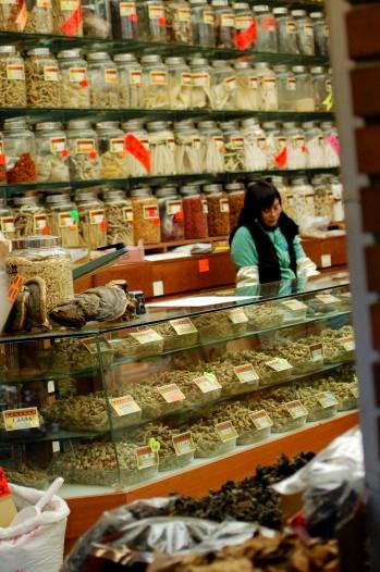 China town shop keeper