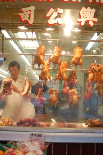 chickens in butcher