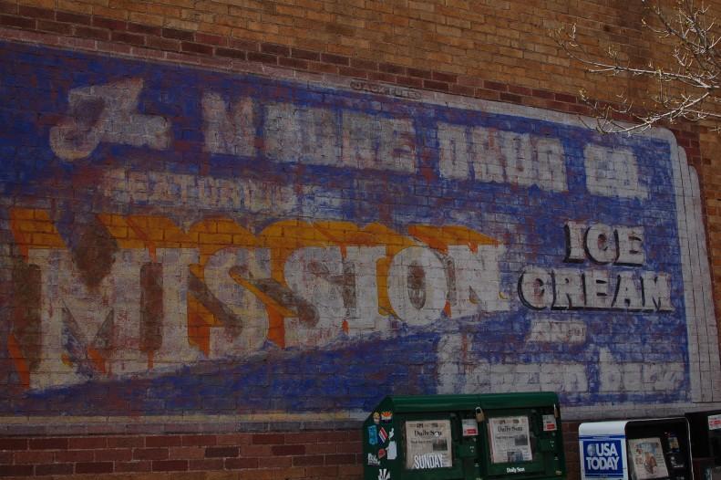 typography, mural, flagstaff, arizona