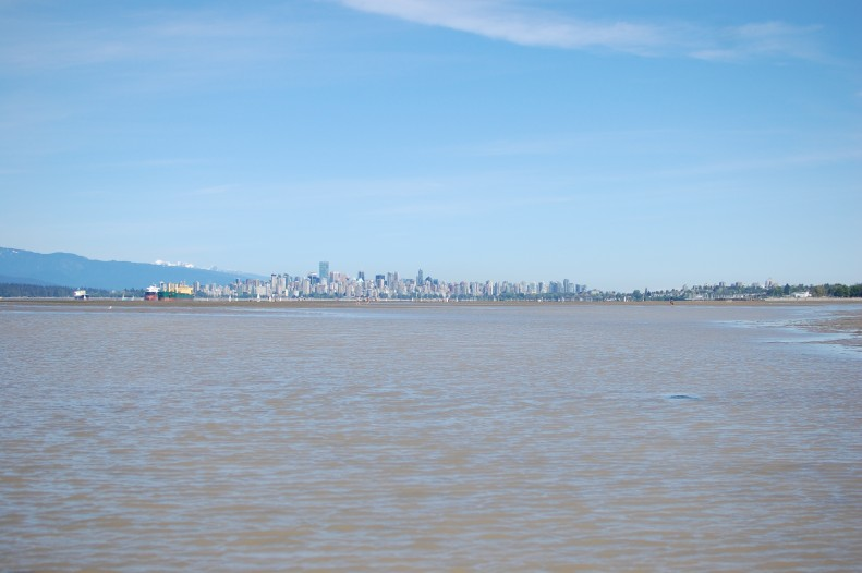 Vancouver from Spanish banks, Vancouver, low tide