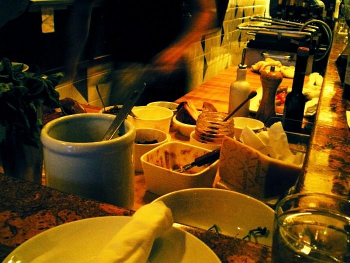 Nook Vancouver, antipasto being prepared