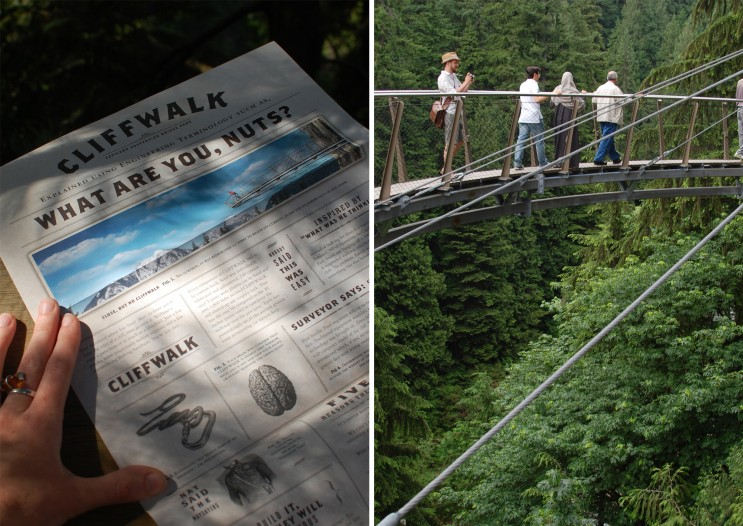 Capilano suspension bridge cliffwalk, Vancouver