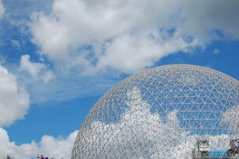 Buckminster Fuller's Biosphere, Montreal on Wide angle wanderings