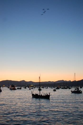 boats at dusk, English Bay Vancouver