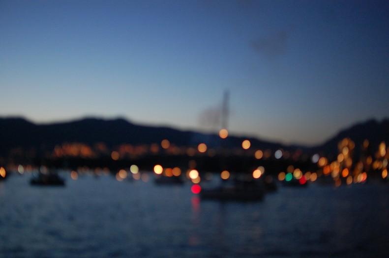 English Bay Vancouver, celebration of light