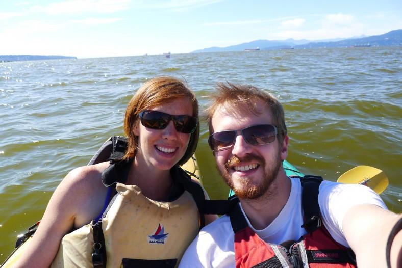 Kayaking in English Bay on Wide angle wanderings