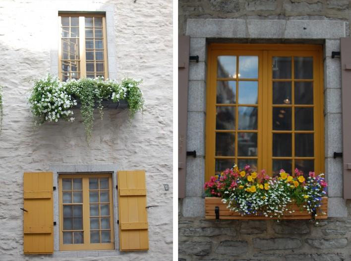 Quebec City windows