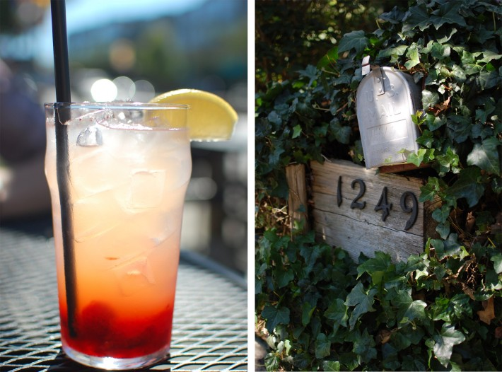 Weekend on Wide angle wanderings. Strawberry lemonade and a mailbox in ivy.