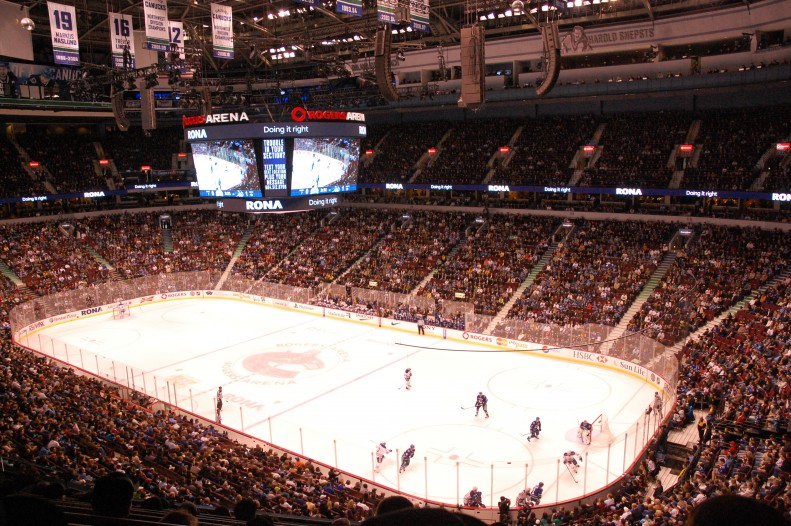 Canucks playing Edmonton Oilers at Rogers arena