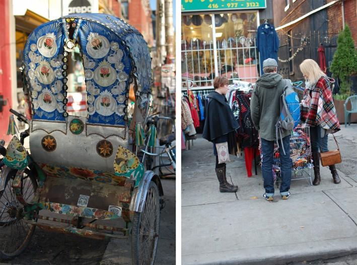 Kensington market on wide angle wanderings