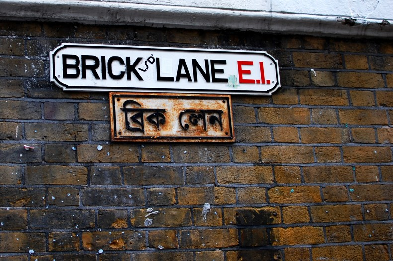 Brick Lane London on Wide angle wanderings