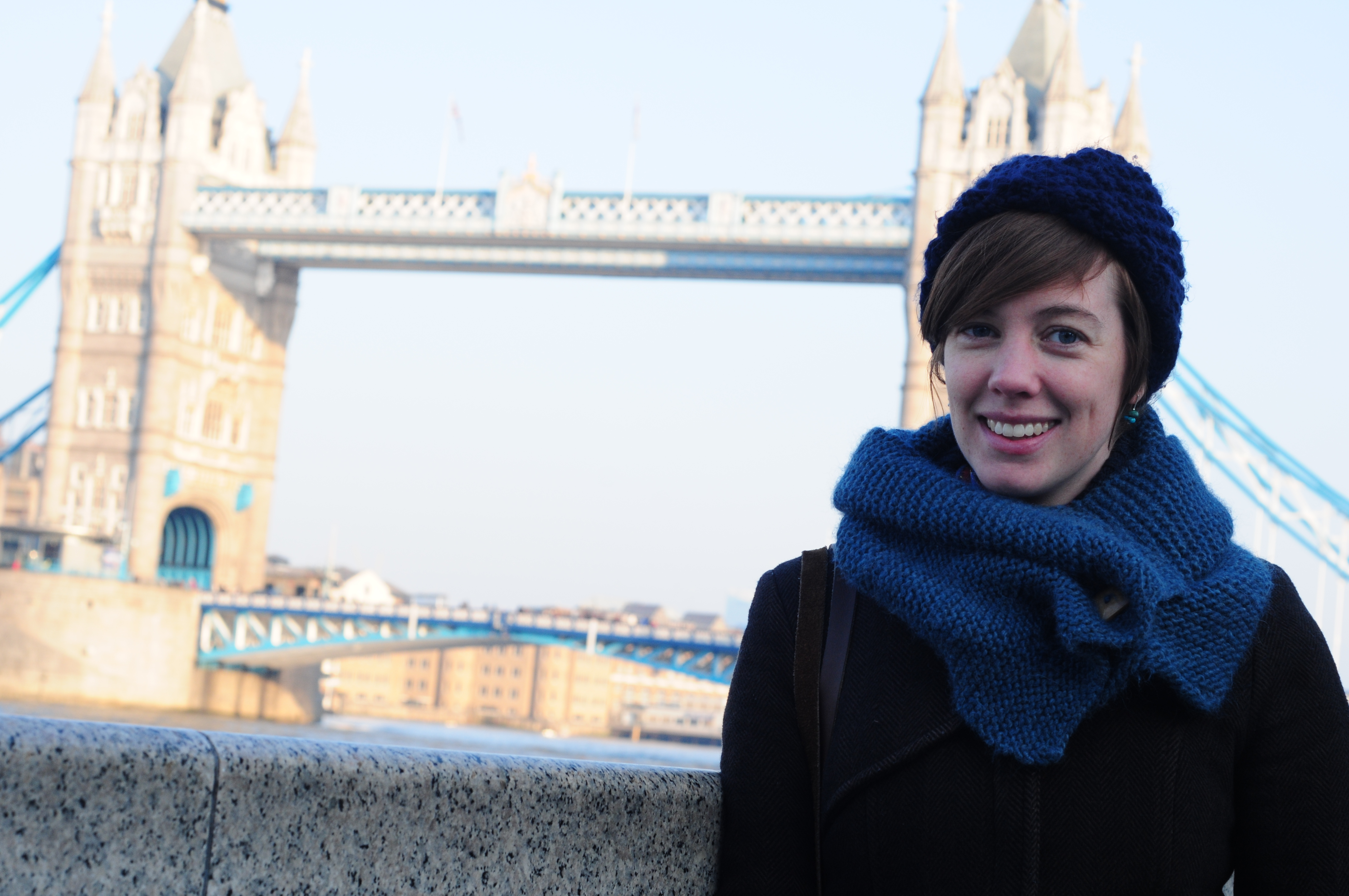 Helen and Tower Bridge on wide angle wanderings