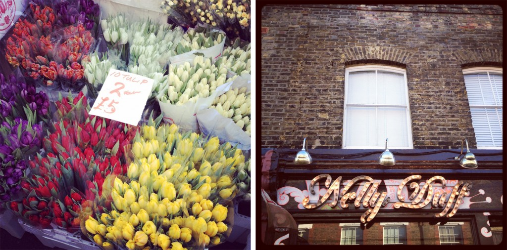 Columbia Road flower market on wide angle wanderings