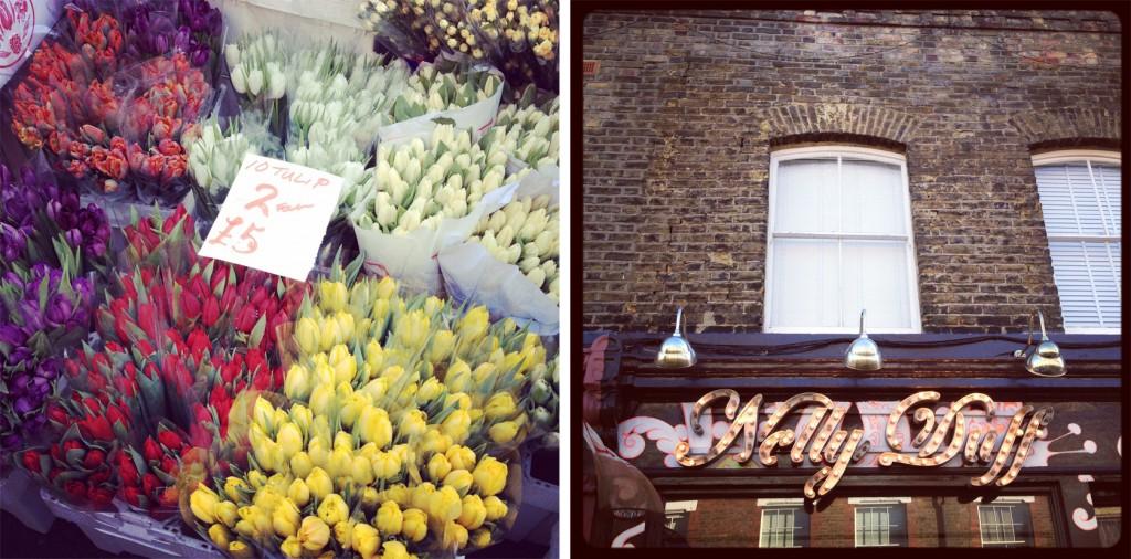 Columbia Road flower market on wide angle wanderings